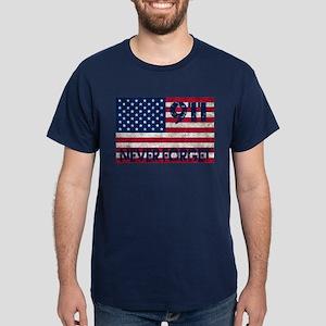 911 Grunge Flag Dark T-Shirt