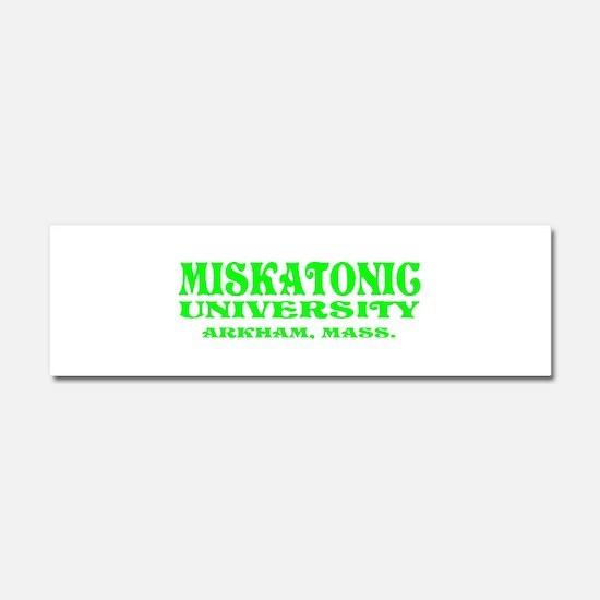 MISKATONIC UNIVERSITY Car Magnet 10 x 3
