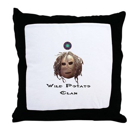 Wild Potato Clan Throw Pillow