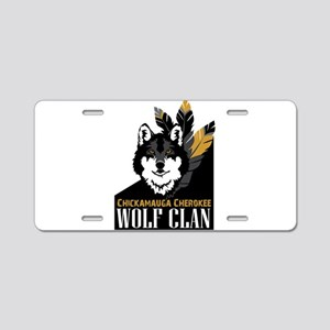 Wolf Clan Aluminum License Plate