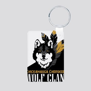 Wolf Clan Aluminum Photo Keychain