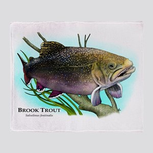 Brook Trout Throw Blanket