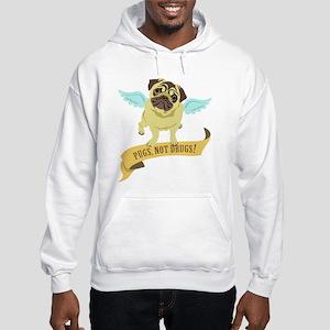 Pugs Not Drugs (Angel) Hooded Sweatshirt