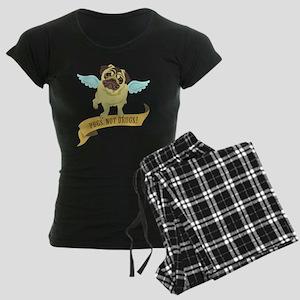 Pugs Not Drugs (Angel) Women's Dark Pajamas