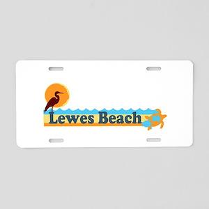 Lewes Beach DE - Beach Design. Aluminum License Pl