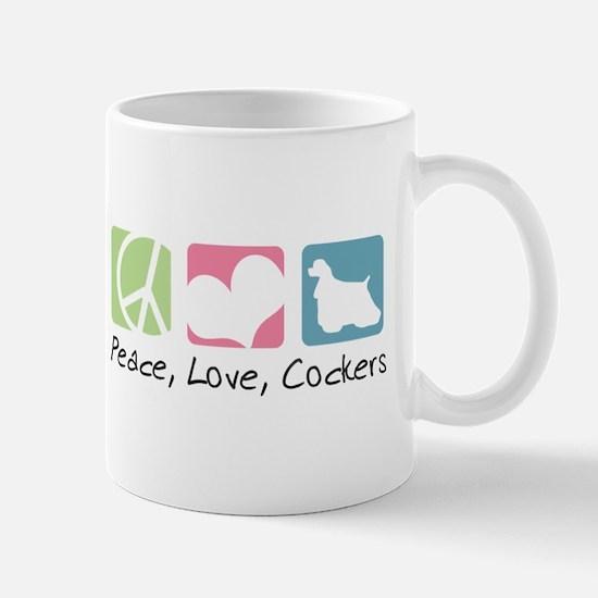 Peace, Love, Cockers Mug
