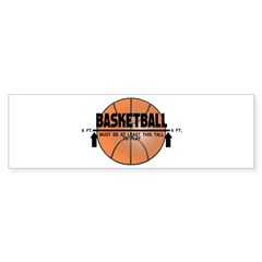 Basketball This Tall Sticker (Bumper)