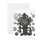 Clock Greeting Card