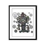 Clock Framed Panel Print