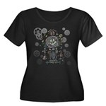 Clock Women's Plus Size Scoop Neck Dark T-Shirt