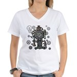 Clock Women's V-Neck T-Shirt