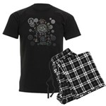 Clock Men's Dark Pajamas