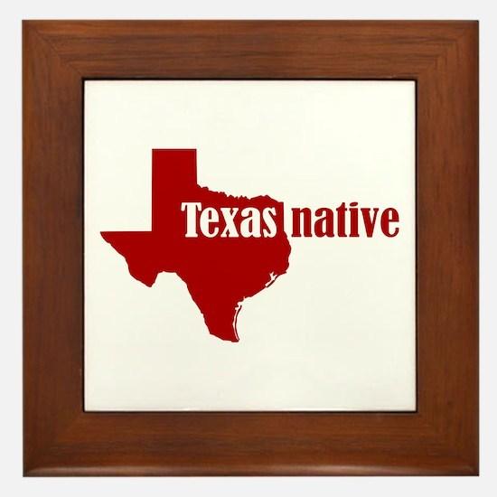 Funny Native Framed Tile