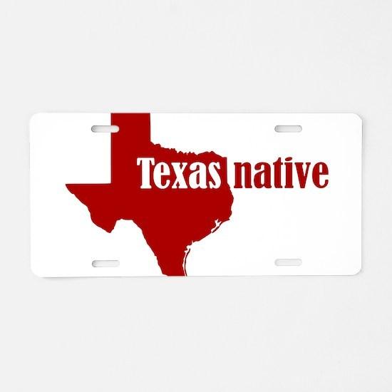 Unique Texas san antonio roadrunners Aluminum License Plate
