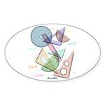 Geometry Sticker (Oval 50 pk)