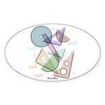 Geometry Sticker (Oval 10 pk)