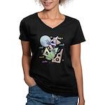 Geometry Women's V-Neck Dark T-Shirt