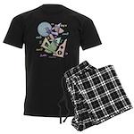Geometry Men's Dark Pajamas