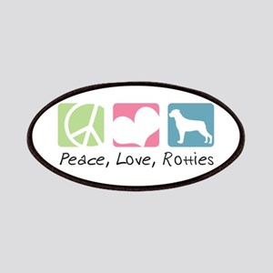 Peace, Love, Rotties Patches