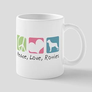 Peace, Love, Rotties Mug
