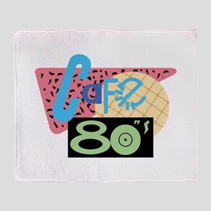 Cafe 80s Throw Blanket