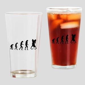 Evolution skate Drinking Glass
