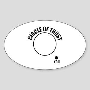 Circle of trust Sticker (Oval)