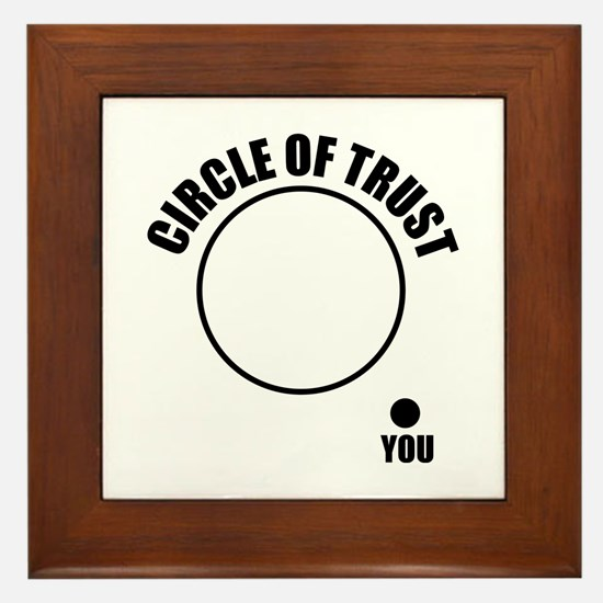 Circle of trust Framed Tile
