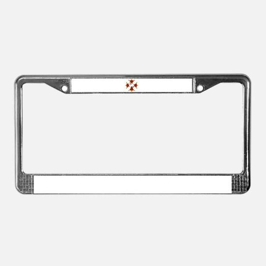 Cool Maltese cross License Plate Frame