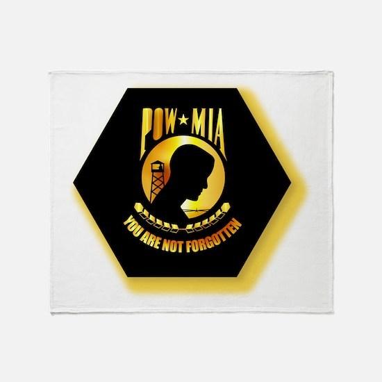 Emblem - POW - MIA Throw Blanket
