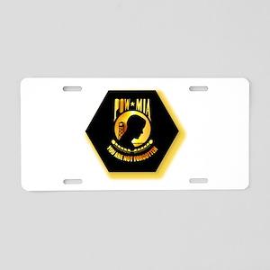 Emblem - POW - MIA Aluminum License Plate
