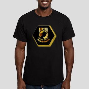 Emblem - POW - MIA Men's Fitted T-Shirt (dark)