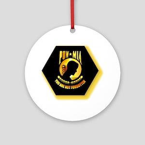 Emblem - POW - MIA Ornament (Round)
