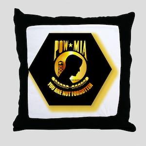 Emblem - POW - MIA Throw Pillow