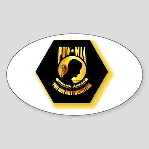 Emblem - POW - MIA Sticker (Oval)