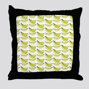 Yellow Bananas Pattern Throw Pillow