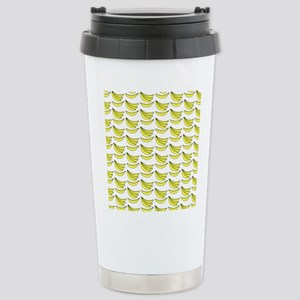 Yellow Bananas Pattern Stainless Steel Travel Mug