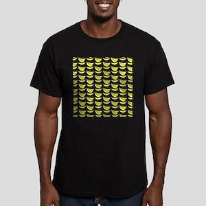 Yellow Bananas Pattern Men's Fitted T-Shirt (dark)