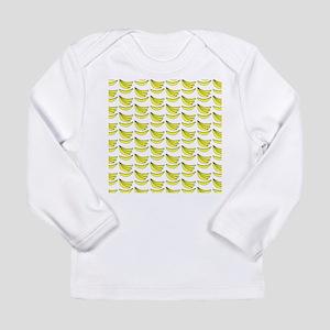 Yellow Bananas Pattern Long Sleeve Infant T-Shirt