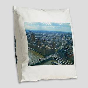 Big Ben Burlap Throw Pillow