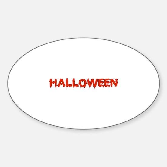 Halloween Sticker (Oval)