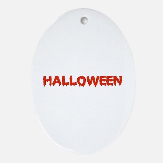 Halloween Ornament (Oval)