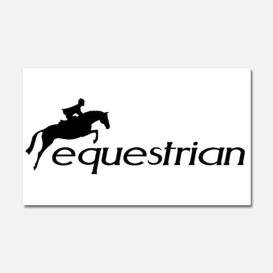 Funny Horseback riding Car Magnet 20 x 12