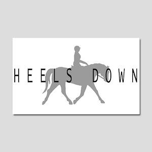 Heels Down Flat Rider Car Magnet 20 x 12