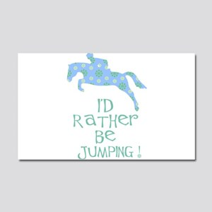 rather-jumping blue Car Magnet 20 x 12