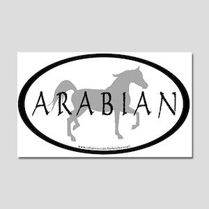 Arabian Horse Text & Oval (gr Car Magnet 20 x