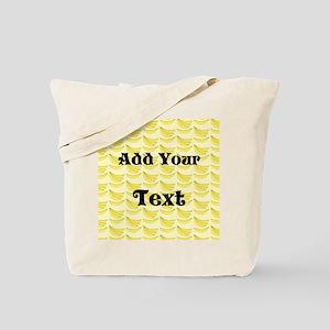 Banana Pattern with Custom Text Tote Bag
