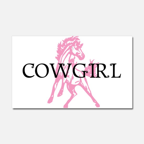 pink horse cowgirl Car Magnet 20 x 12