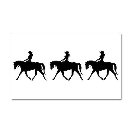 Three Cute Cowgirls Car Magnet 20 x 12