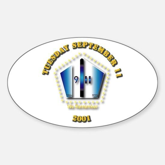 Emblem - 9-11 Sticker (Oval)